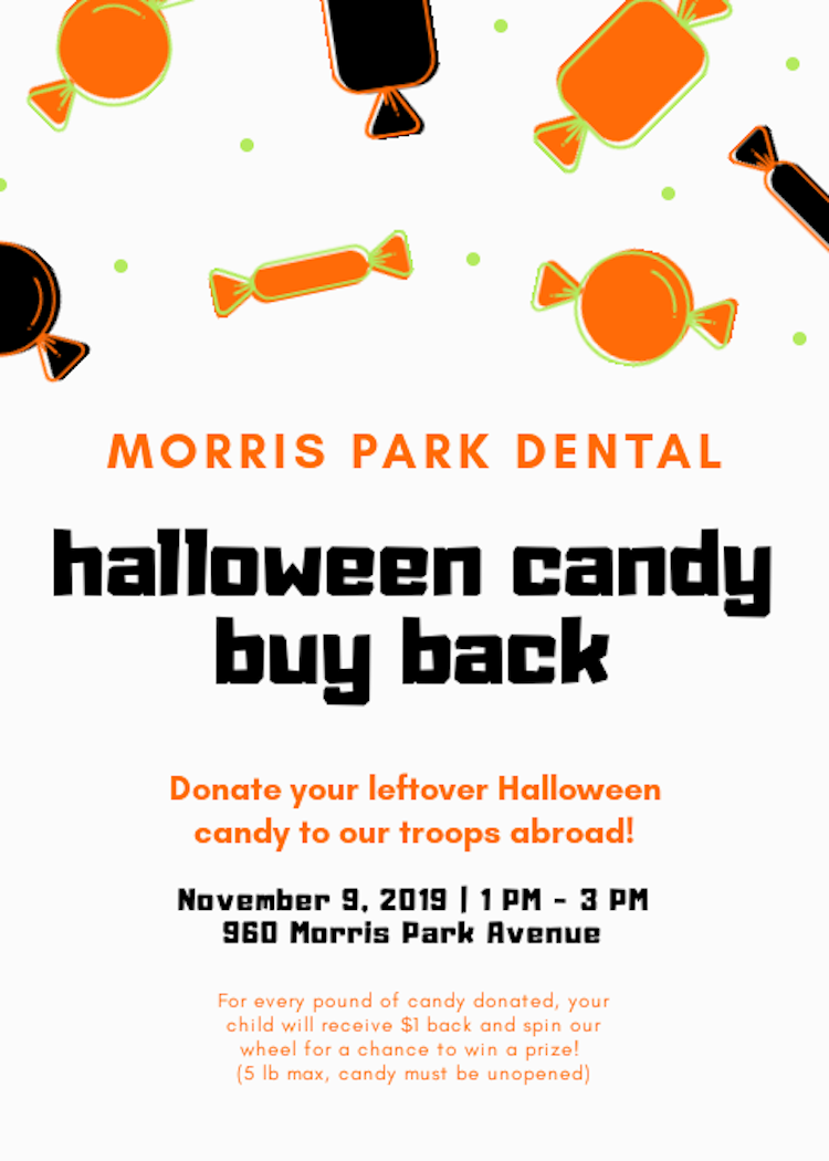 Morris Park Halloween Candy Buy Back Program